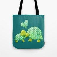 Turtle Hugs Tote Bag