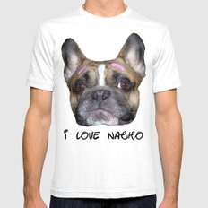 I love nacho! White SMALL Mens Fitted Tee