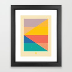 Secret Surf Map 006 — Matthew Korbel-Bowers Framed Art Print