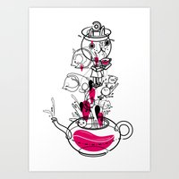 Tea With The White Rabbi… Art Print