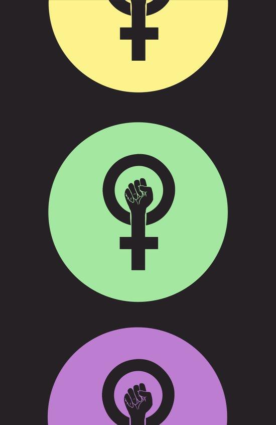 Feminist Power Fist, Tri-Colour Art Print