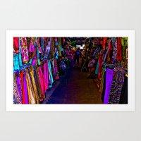 How Bazaar (Neon) Art Print
