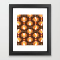 Oohladrop Brown Framed Art Print