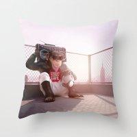 Monkey Beat Throw Pillow