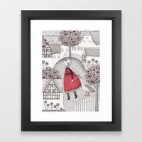 The Old Village Framed Art Print