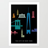 New York Skyline One WTC… Art Print