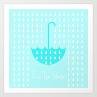Save the Water Art Print