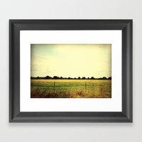 Fields Of Fall Framed Art Print