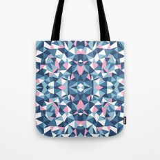 Abstract Collide Blue and Pink Tote Bag