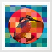 Kingfisher Sunset Art Print