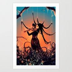 FiddleBack Art Print