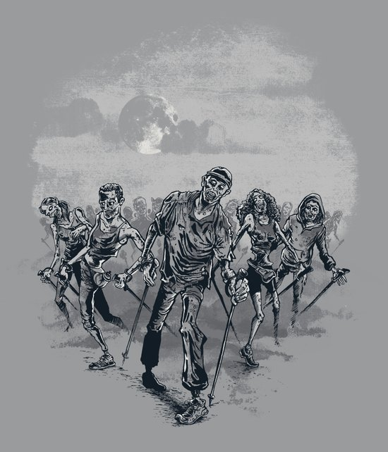 the NORDIC walking dead Art Print