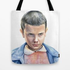 Eleven Stranger Things Watercolor Portrait Tote Bag