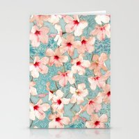 Shabby Chic Hibiscus Pat… Stationery Cards