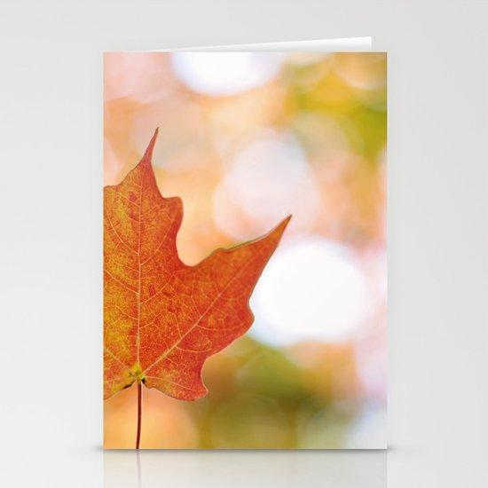 Maple leaf bokeh Stationery Card