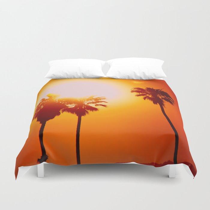 So Cal Palm Trees Duvet Cover By Billie Jo Society6