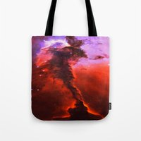 Red Nebula Tote Bag