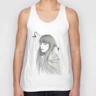 White Feather Unisex Tank Top
