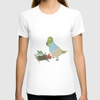 Hipster Dinosaur Instagr… Womens Fitted Tee White SMALL