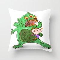 Monstruoso Throw Pillow
