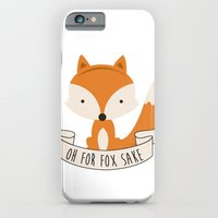 iPhone Cases featuring Oh for fox sake by revoltz