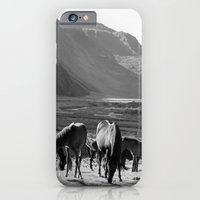 horses iPhone & iPod Cases featuring Horses by Avigur