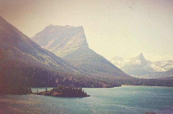 Retro Glacier Canvas Print