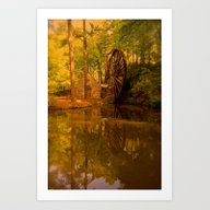 Art Print featuring Old Mill by SouthernComfortArt