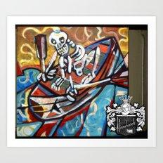 Skull Boat Art Print