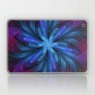 Flower Fountain In Blue,… Laptop & iPad Skin