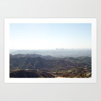 Los Angeles From The Hil… Art Print