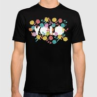 //  YOU ONLY LIVE ONCE  Mens Fitted Tee Black SMALL