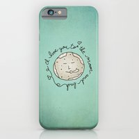 I Love You To The Moon And Back (blue) iPhone 6 Slim Case