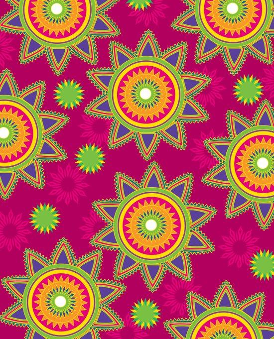 Moroccan Flower Wine Canvas Print