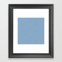 Yellow Pit On Blue /// W… Framed Art Print