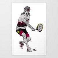Tennis Agassi Art Print