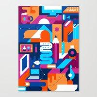 Creative Process Canvas Print