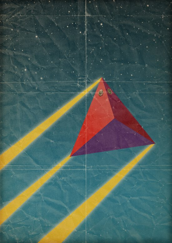 tetrahedra of space Canvas Print