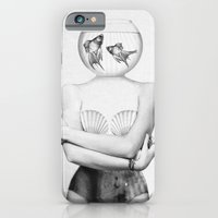 girl iPhone & iPod Cases featuring Pisces  by Jenny Liz Rome