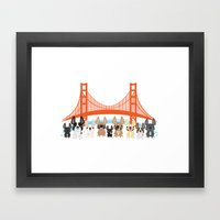 Bay Area Frenchies Framed Art Print