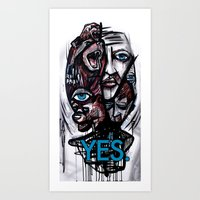 YES bear Art Print