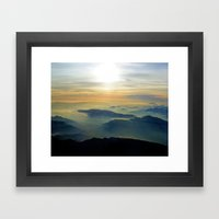 Didn't Have to Die to go to Heaven (Just had to go home) Framed Art Print