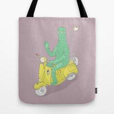 Vespa & Monsta Tote Bag
