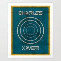 Minimalist Charles Xavier Art Print