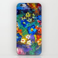 Flora Azul iPhone & iPod Skin
