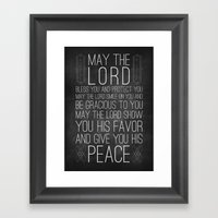 Numbers 6:24-26 The Blessing Framed Art Print