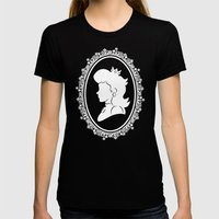 The Princess  Womens Fitted Tee Black SMALL