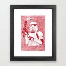 Storm Trooper Framed Art Print