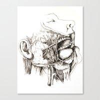 Anatomy: Study 1 Salivat… Canvas Print