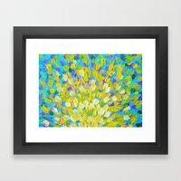 SPLASH 2 - Bright Bold O… Framed Art Print